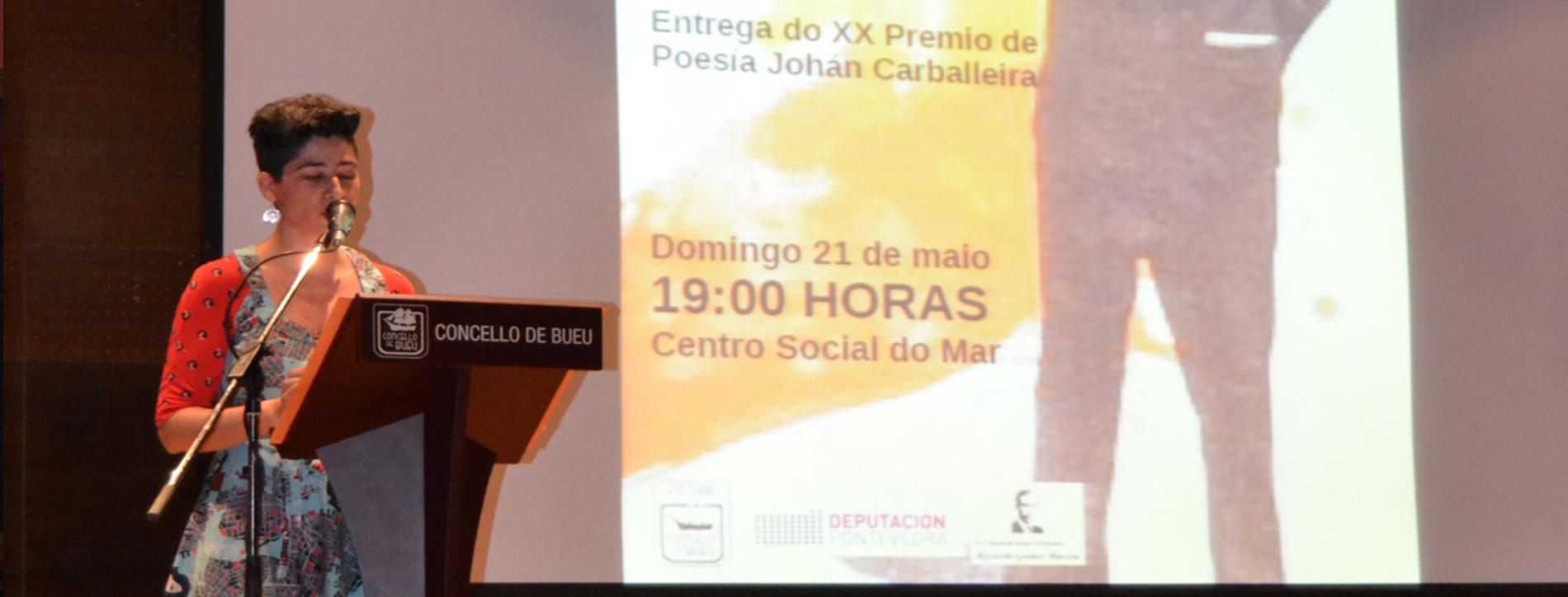 MARÍA REIMÓNDEZ, PREMIO DE POESÍA JOHÁN CARBALLEIRA